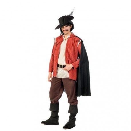 Si quieres trasladarte a la época medieval, este disfraz de aventurero para hombre adulto es perfecto para ti! Un modelo de alta calidad 100% hecho en España que te hará destacar en cualquier fiesta de disfraces o feria medieval.