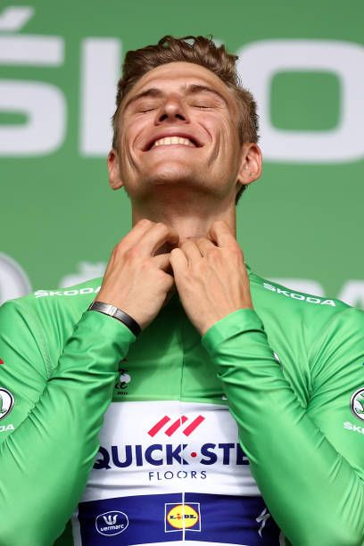 Oh that smile! Marcel Kittel of Germany and QuickStep Floors retained his green points jersey after his fifth win on stage eleven of Le Tour de France 2017 a 2035km...