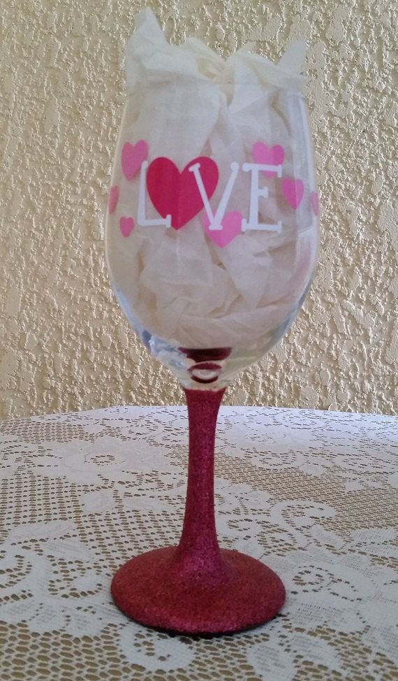 valentines day wine glass wine by