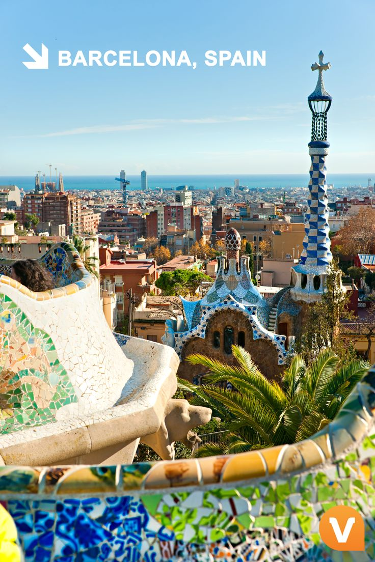 Discover one of #Barcelona's most beautiful and colorful attractions at Gaudi's Park Guell!