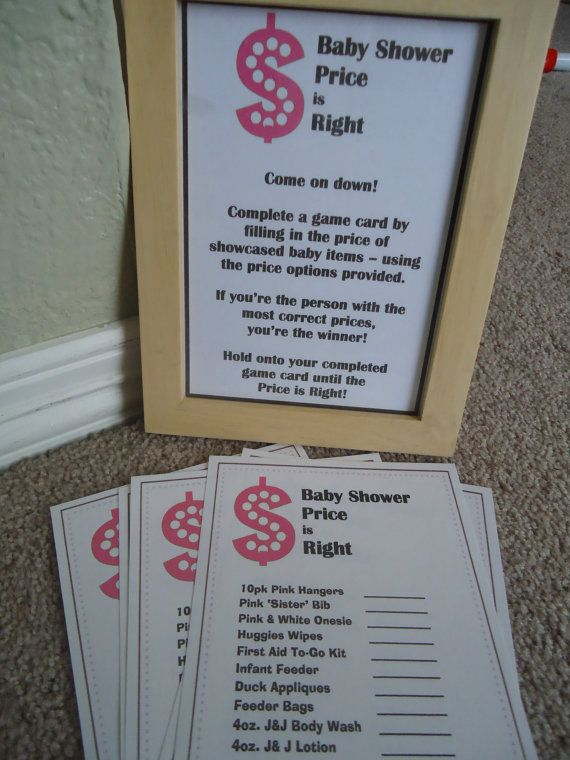 Price is Right Baby Shower Game by ChristinaLouCreation on Etsy, $15.00