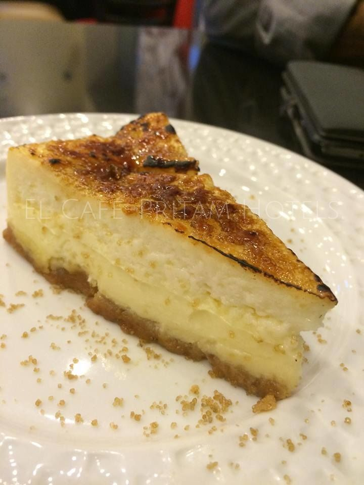 Who can refuse a slice of Soft Velvety wedge of our signature #CremeBruleeCheeseCake made with Philadelphia Cream Cheese. #CrackTheCrust. If the crust doesn't crack it's not a Creme Brûlée only at #ElCafe. #FoodPorn #AwesomeDesserts :)