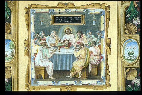 Cutting from a Missal of Pope Paul III, Alessandro Farnese (1468-1549)  The Last Supper.  Additional 352540