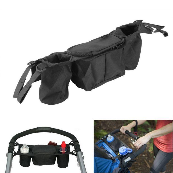 New Arrive Kids Baby Stroller Safe Console Tray Pram Hanging Bag Multifunctional Baby Stroller Organizer Bottle Cup Hanging Bags