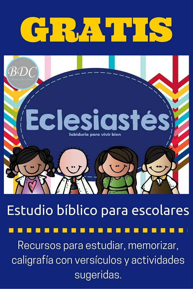 Estudio bíblico apra niños y niñas en edad escolar, con planes de lectura semanales, memorización de versículos, prácticas de caligrafía con versículos diarios y actividades para comprender el estudio de la biblia.