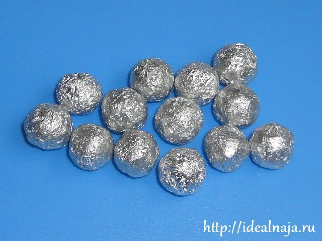 Бусины для  слингобус из алюминиевой фольги