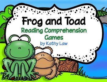 $4.80 Frog and Toad - Reading Comprehension Games