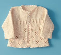 Girl's Knitted Sweater - free pattern