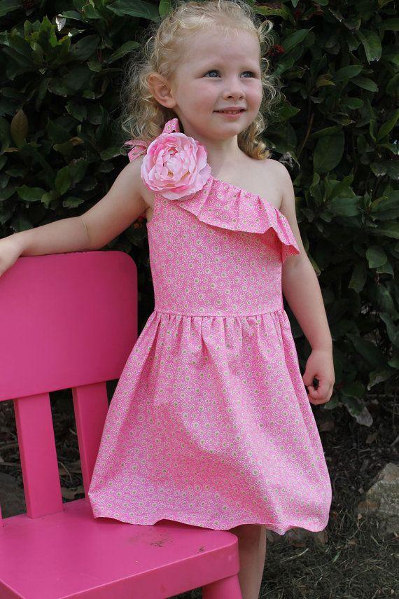 Pretty Pink Asymmetric Dress by HullabalooKids on Etsy, $38.00