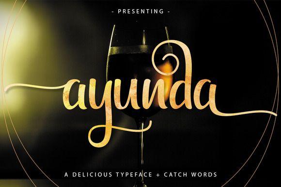 Ayunda Typeface by Fittingline Type Supply on @creativemarket