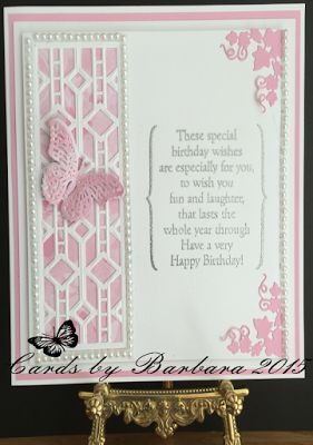 Phills' Crafty Place: Graceful Pink and White - Featuring The Bracket Birthday…