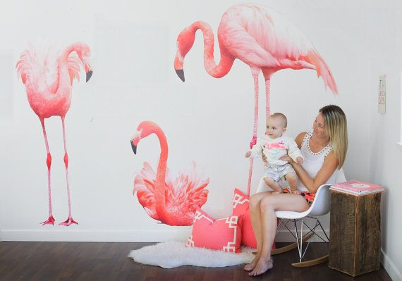 Vinyl Wall Sticker Decal Art  Flamingos by urbanwalls on Etsy -- these WILL find their way to HAWAII!! #MRAapproved