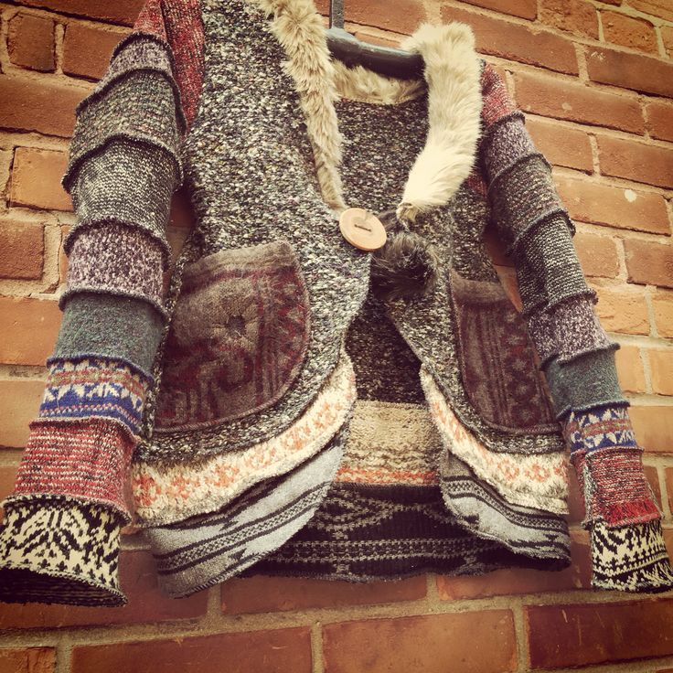 Recycled wool jacket by susanharrisdesign