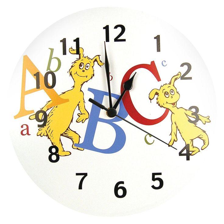 Dr. Seuss Abc Wall Clock White - Trend Lab