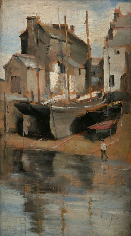 Norman Garstin, Houses and Boats, Penlee House Gallery and Museum Penzance Cornwall UK
