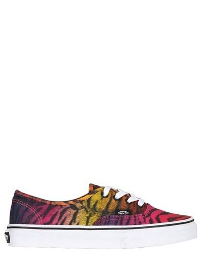 VANS 20MM AUTHENTIC TIGER CANVAS SNEAKERS