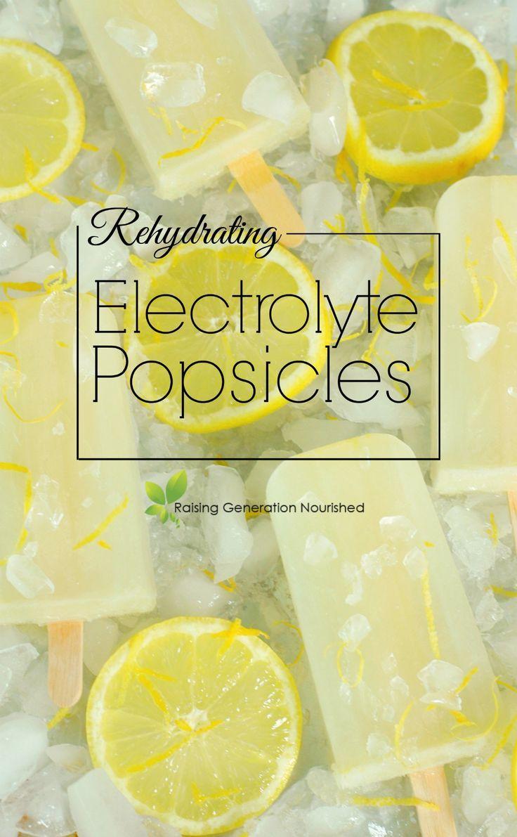 Rehydrating Electrolyte Popsicles | Raising Generation Nourished