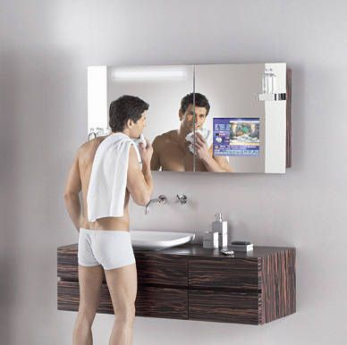 The Hoesch SingleBath Bathroom Suite Manages To Combine So Many Fantastic Elements Such As A Futuristic Mirror TV Cabinet That It Could