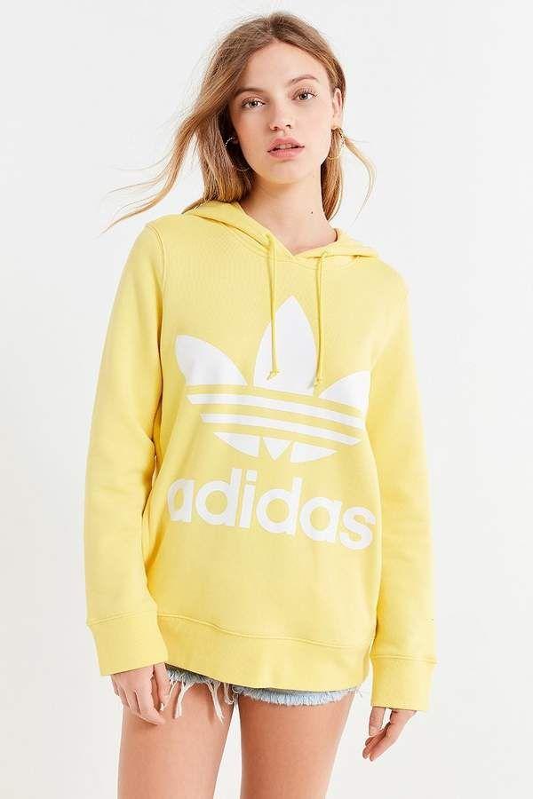 8752b9a5c79 Adidas Originals Adicolor Classic Trefoil Hoodie Sweatshirt adidas ootd