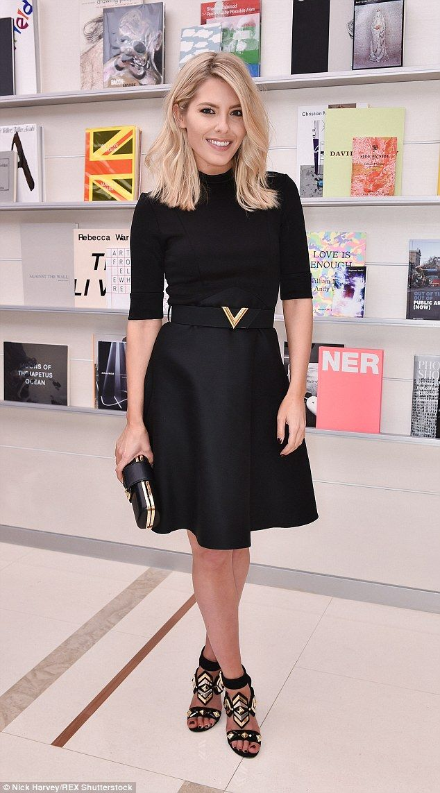 Stylish as ever: Mollie King made a glamorous appearance at the The Curated Shelf: Blaise ...