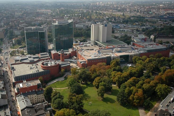 Poznań, Poland bird's eye view center