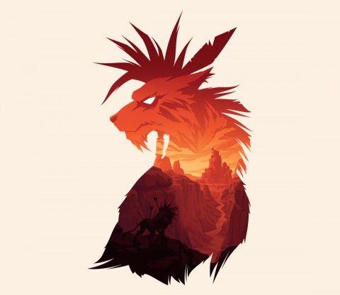 The Canyon's Guardian | Final Fantasy VII | Red XIII | TeeFury