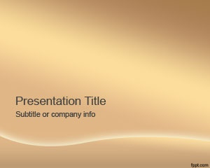 Free Bronze PowerPoint Template is a free bronze template slide design for presentations with a simple background style