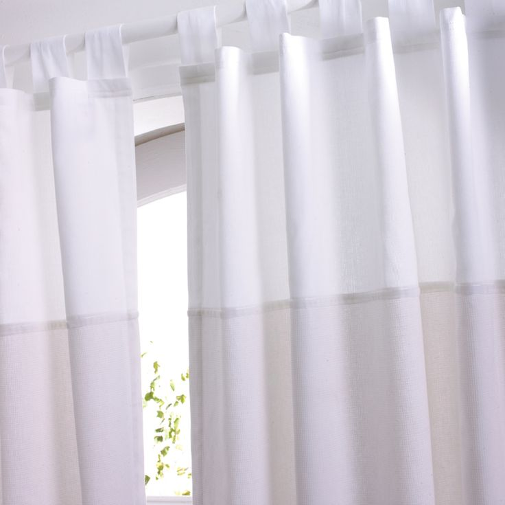 Pure White Cotton Tab Top Curtains Hippins For Baby Gifts Nursery Furniture  And Childrens Curtains U0026