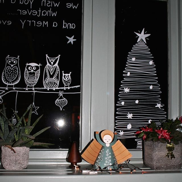 #christmas countdown dag 17: kerstraam en krijtstiften - interieurblog