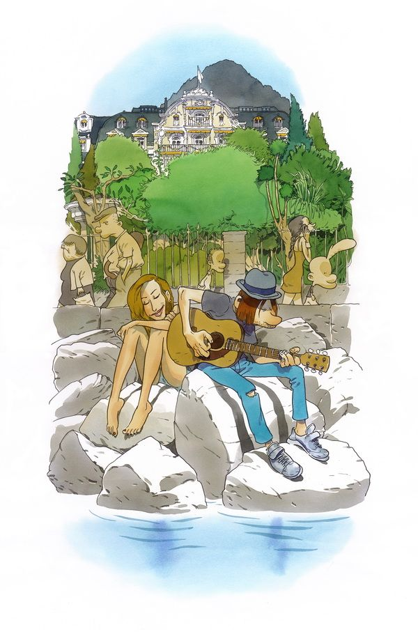"""Zep, Festival off I, série limitée à 5 ex, 2014 Série réalisée en exclusivité pour Janus Gallery dans le cadre de l'exposition """"Zep à Montreux"""". Tirage Laurent Cochet."""
