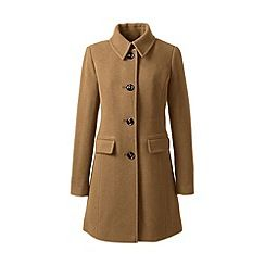 Lands' End - Brown plus wool blend car coat