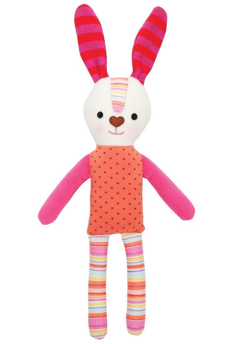 Pink stripe/ dot rabbit | Micky & Stevie