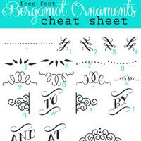 Print out this free printable of a Bergamot Ornaments Character Map for your desk to use as a handy reference.| InMyOwnStyle