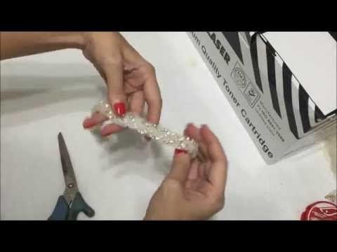 Tiara de noiva e batizado básica - Passo a Passo com Cris Albuque - YouTube