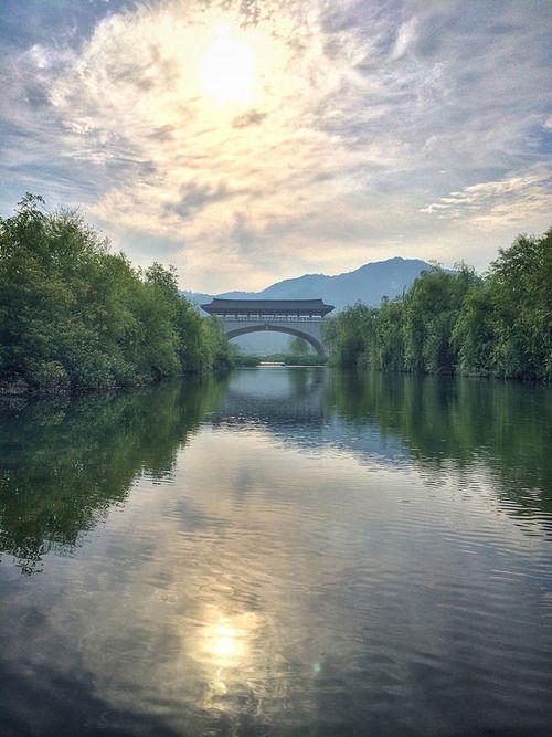 Morning over the Jeonju river…Jeonju, S. Korea