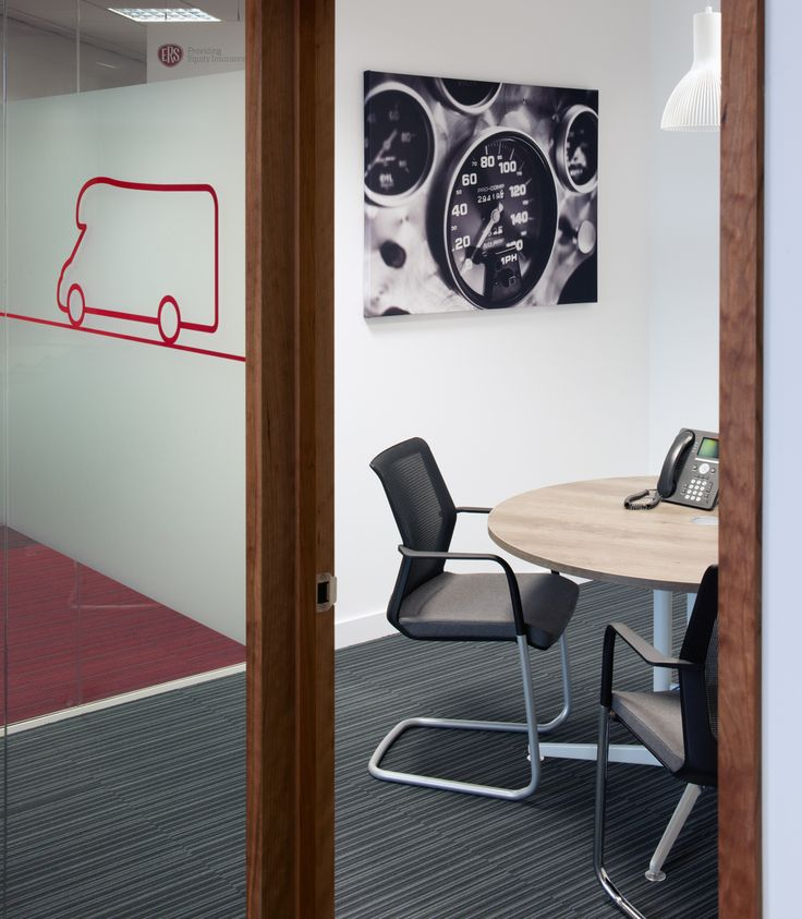 Meeting Rooms >> Office Design Branding >> For leading insurers, ERS, branding was an important part of their office design, using graphics and images throughout their workspace that depicts what their business does. Their Swansea office in Wales has a variety of meeting and collaborative workspaces that support 400 staff working across a range of functions. This space has glass manifestations and photographic artwork on the wall. See more of this office on our website: