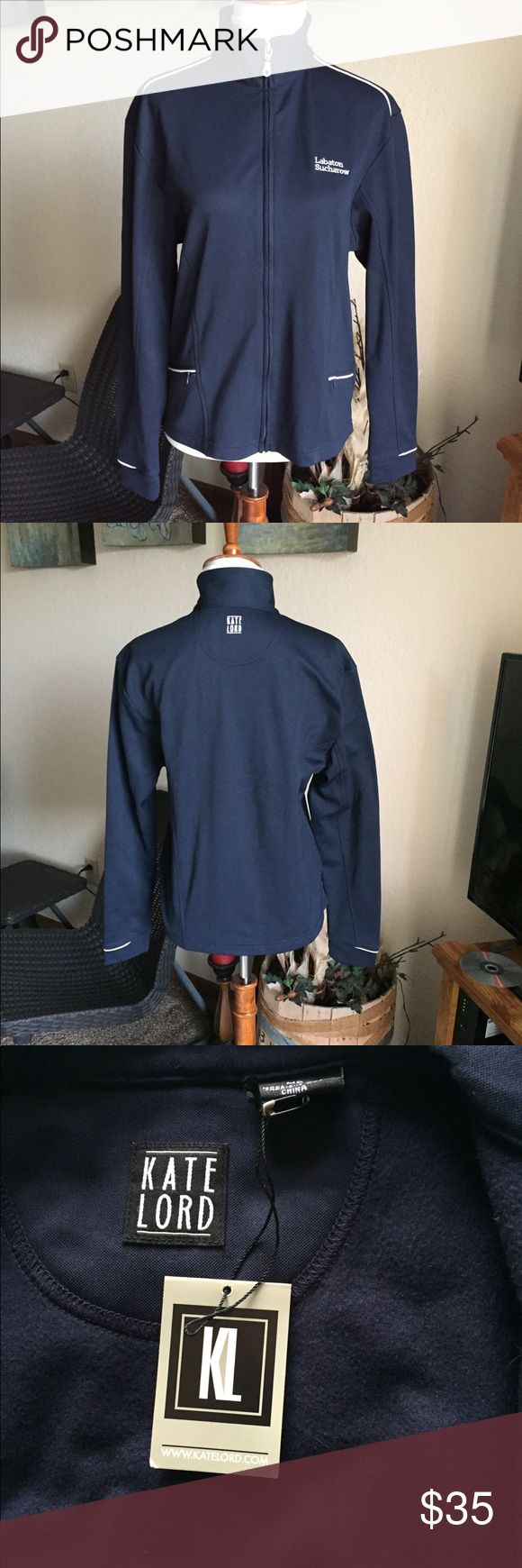Kate Lord Performance Golf Jacket Brand new Kate Lord performance Golf jacket. Rich navy blue with white detail on the sleeves and fully functional zippered pockets. Nice soft lining for those cool golf days.  (086) Kate Lord Jackets & Coats