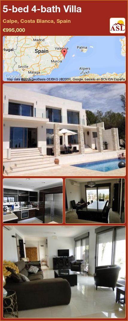 5-bed 4-bath Villa in Calpe, Costa Blanca, Spain ►€995,000 #PropertyForSaleInSpain