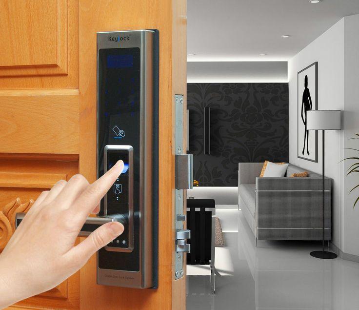 Fingerprint Door Lock Keypad Card 4 in 1 function Deadbolt European Mortise  309. 10 best Keypad Door Lock images on Pinterest   Fingerprints  Home