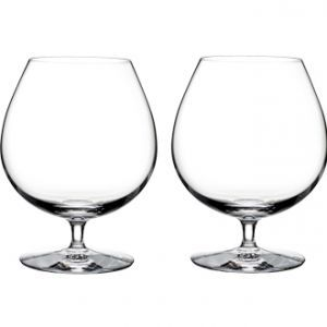 Waterford Elegance Brandy Glass Pair  Fine wine and quality spirits can only be fully and truly appreciated when experienced in the proper vessel. This pair of Elegance glasses by Waterford, the expert of crystal stemware, are designed to bring out the distinctively smooth yet earthy styles of a refined Calvados or Hennessy.  Free delivery to most Mainland UK postcodes on orders over £25