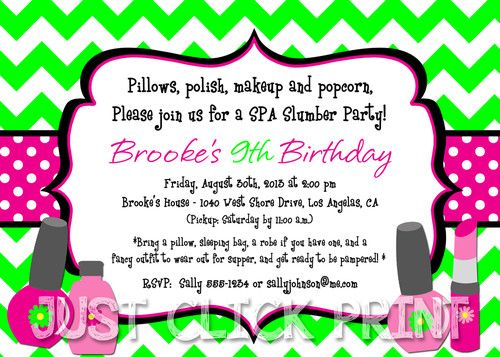 12 best images about CUTE INVITE – Cute Slumber Party Invitations