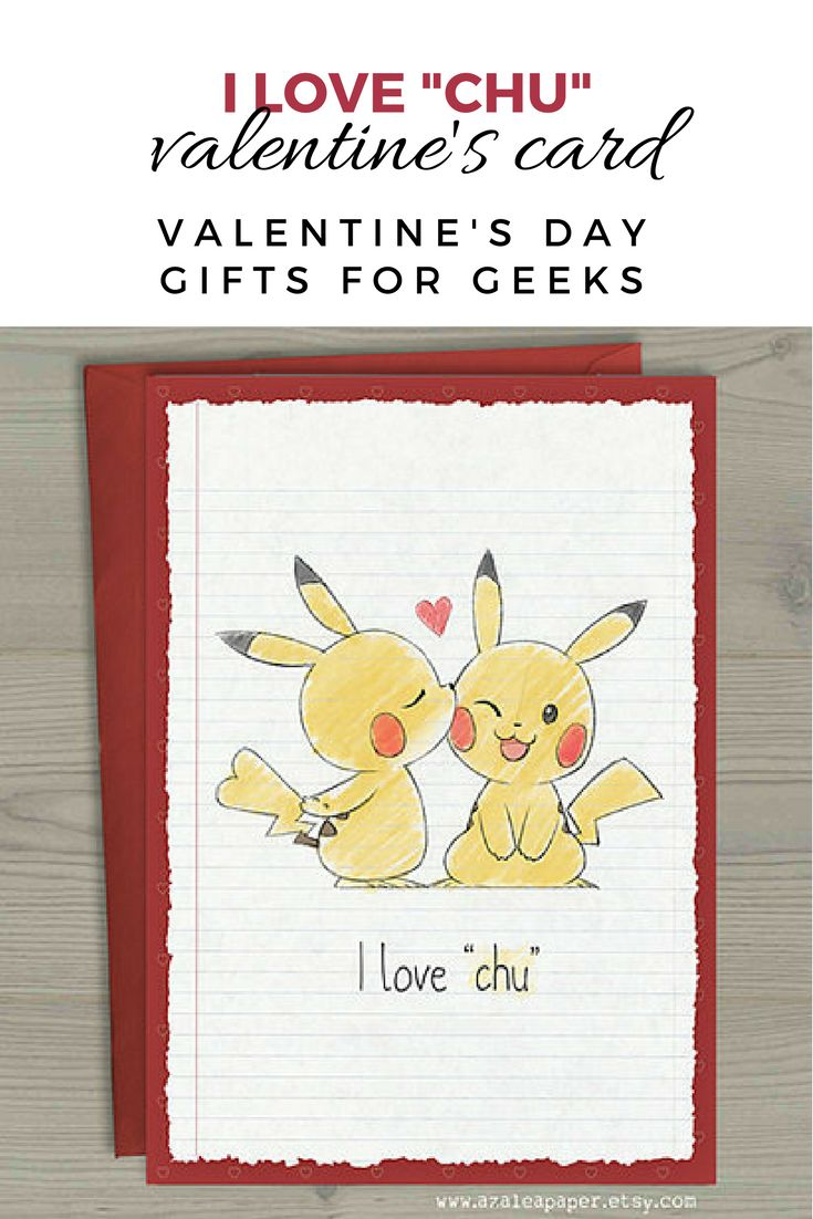 Show that special someone in your life just how much you love them with this geeky Pikachu and Pokemon inspired Anniversary or Valentines Day card. • Pikachu Pokemon Valentines Anniversary Nerdy Geek Anime I Love Chu You Greeting Card #valentinesday #pokemon #pikachu #giftidea #valentinesdaygiftideas #valentinesdaygift #affiliate