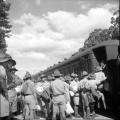 28th Maori Battalion reserves departing Rotorua for overseas service WWII