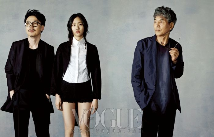 VOGUE Korea MAY 2012 with Goeun Kim,   Jiwoo Jung(Movie director), Bumshin Park(Author).