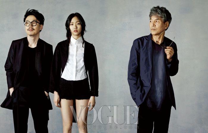 VOGUE Korea MAY 2012 with Goeun Kim,   Jiwoo Jung(Movie director), Bumshin Park(Author).