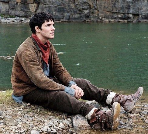Merlin - stills of Colin Morgan on the set of Merlin Series 5