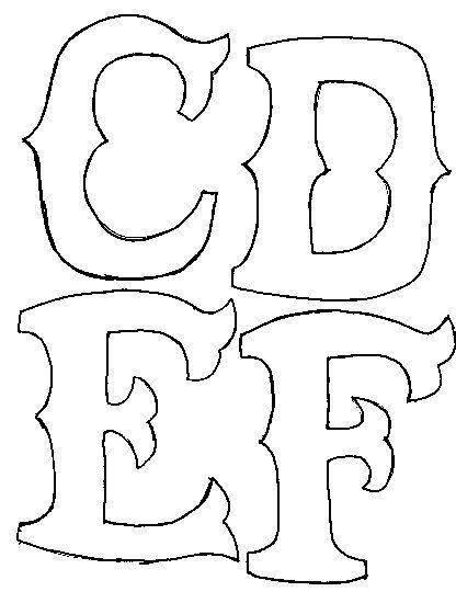 c d e f applique pattern