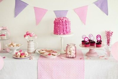 Pink and Purple Dessert Table <3 See More Cute Dessert Table Ideas at www.CarlasCakesOnline.com