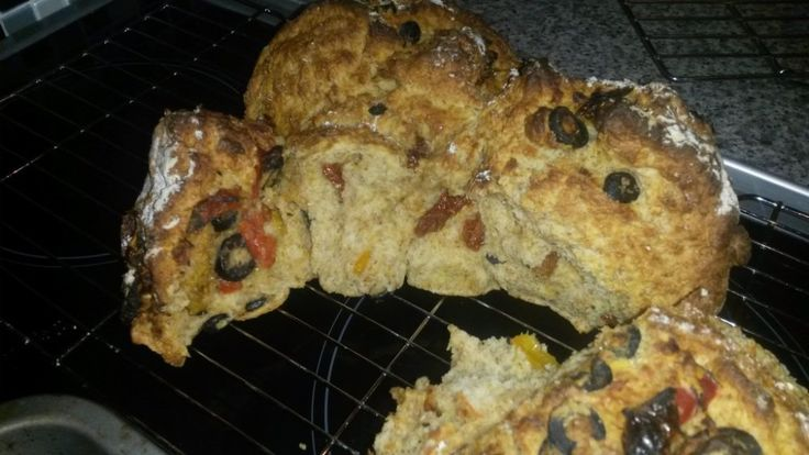 Soda bread with olives