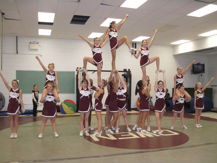 Cool Cheer Stunts | Posted by Swannanoa 4H Center at 11:39 AM